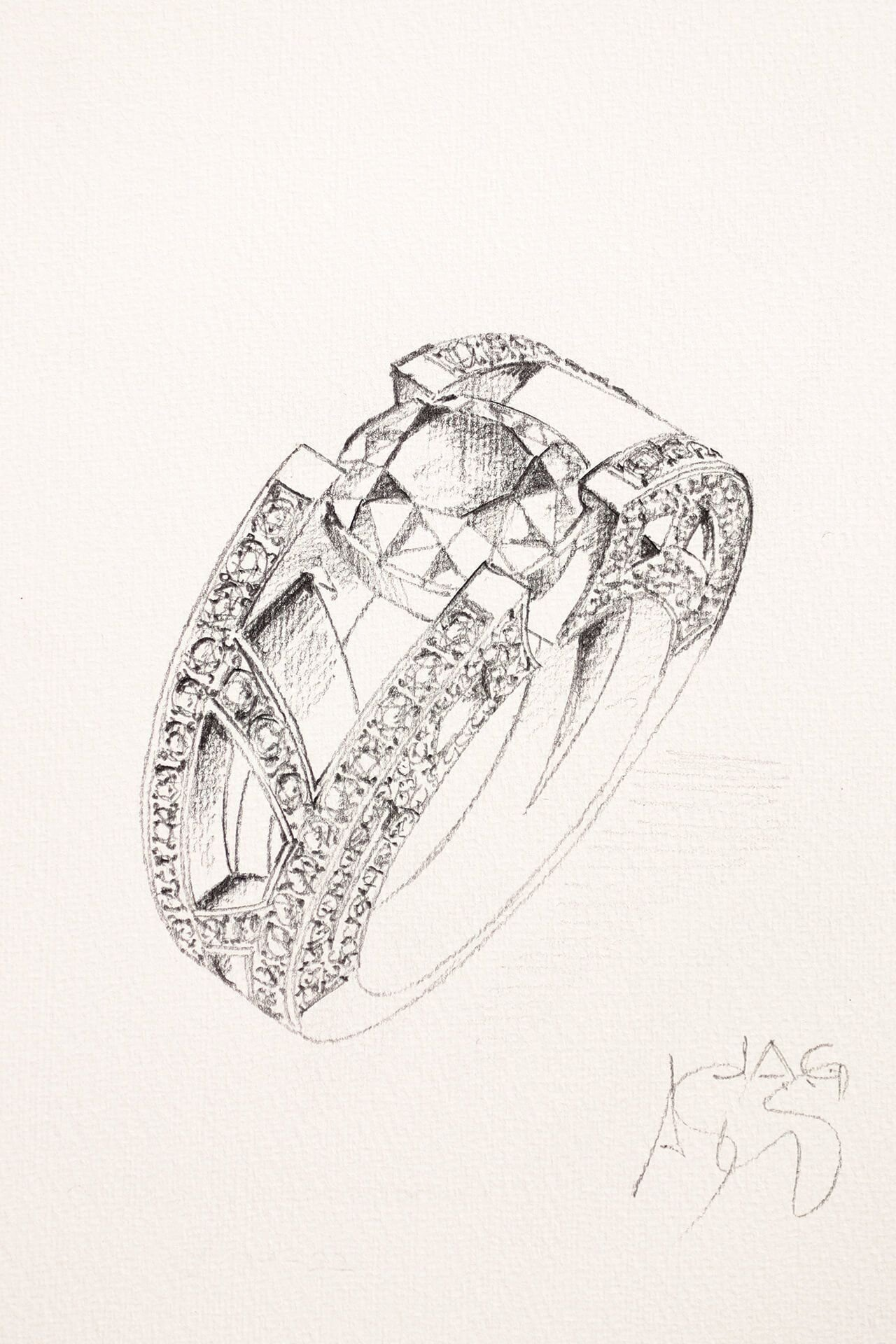 Drawing inspiration from the Eiffel Tower for the curves of a ring