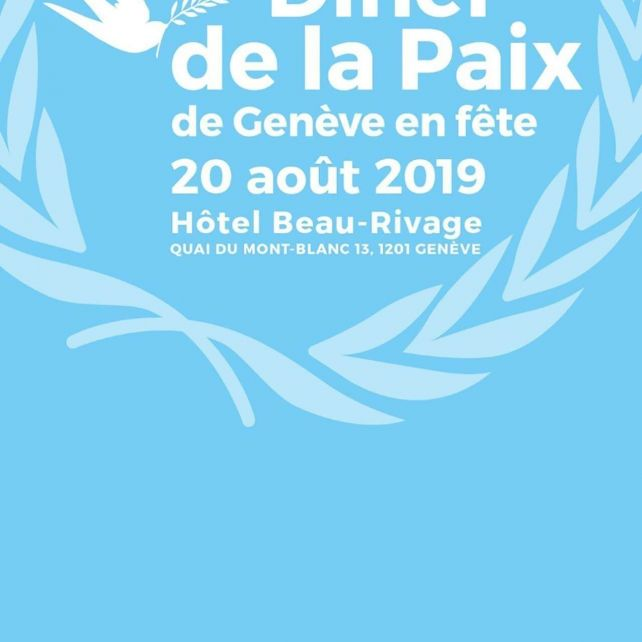 The Peace Dinner, in honor of women working for world peace, in Geneva